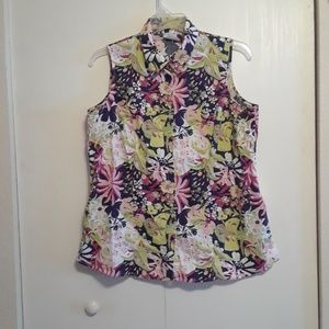 Floral Button Down blouse by JG Hook size 1X